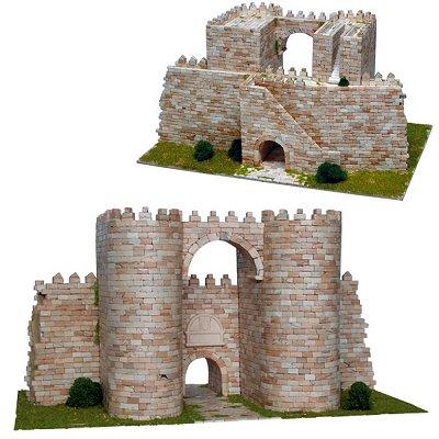 Maquette en céramique : Puerta del Alcázar, Muraille d'Ávila, Espagne - Aedes-1266
