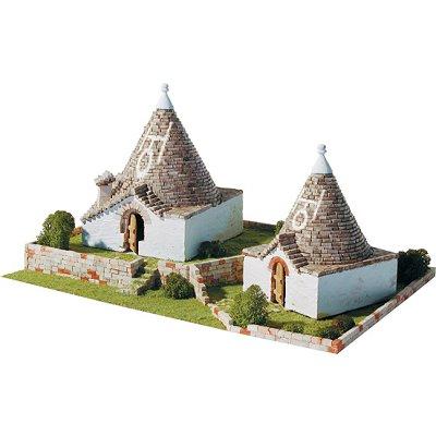 Maquette en céramique : Trulli Pugliesi, Alberobello, Italie - Aedes-1257