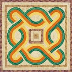 Mosaïque en céramique émaillée : Forme géométrique 3