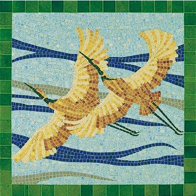 Mosaïque en céramique émaillée : Oiseaux - Aedes-5501