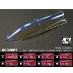 Accessoires pour vitrines : Revêtement anti-reflets : F-16 B/D/F - 1/32