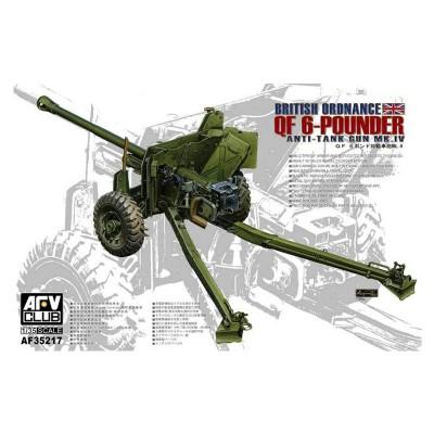 Maquette 1/35 : Canon antichars britannique Mk.4 QF 6 pounder - AFVclub-AF35217