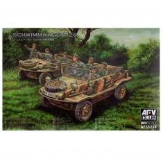 Maquette véhicule militaire : Volskwagen 128 Schwimmwagen