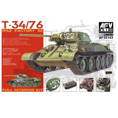 Maquette Charmoyen soviétique T-34/76 - AFVclub-AF35143