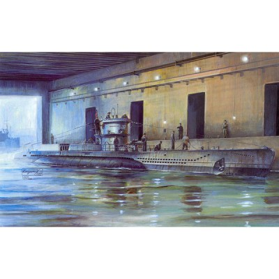 Maquette Sous-marin allemand U-Boat Type VII D: Mouilleur de mines - AFVclub-AF73505