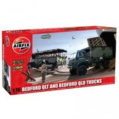 Maquettes véhicules militaires : Bedford QLT and Bedford QLD Trucks