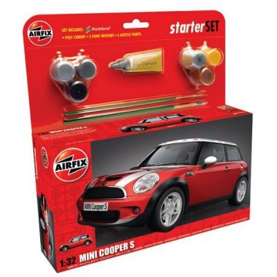 Maquette voiture: Starter Set: BMW Mini Cooper S - Airfix-50125