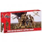 Figurines 2ème Guerre Mondiale : Groupe de Soutien Infanterie britannique