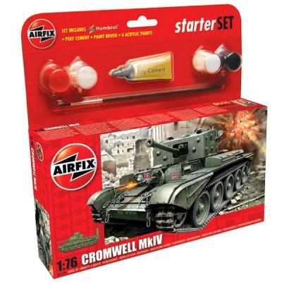 Maquette Char: Starter Set: Cromwell Cruiser Tank - Airfix-55109