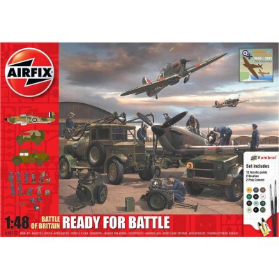 Diorama 1/48 : Bataille d'Angleterre : Ready for Battle Gift Set - Airfix-50172