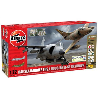 Maquettes avions : Dogfight Double Gift Set : Douglas A-4 Skyhawk/BAe Sea Harrier FRS-1 - Airfix-50134