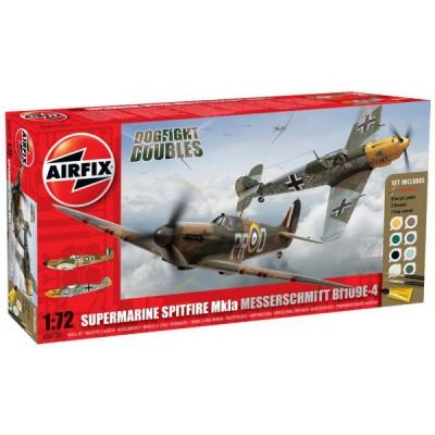 Maquettes avions: Dogfight Doubles: Spitfire 1A et Messerchmitt Bf109E - Airfix-50135