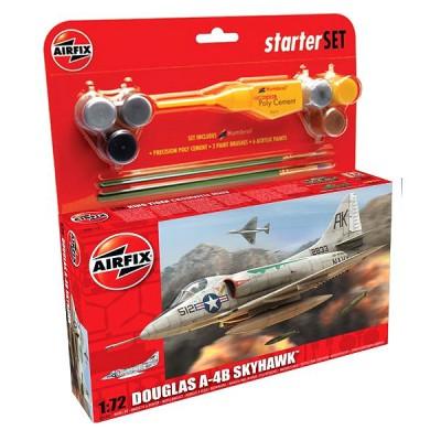 Maquette avion:  Starter Set: Douglas A4-B Skyhawk - Airfix-55203