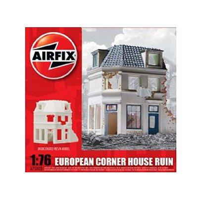 Maquette Ruines de guerre : European Corner House Ruin - Airfix-75003