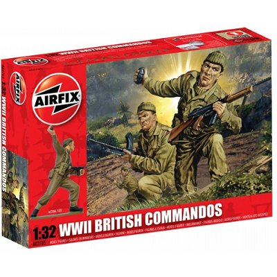 Figurines 2ème Guerre Mondiale : 1:32 Commandos Britanniques - Airfix-02705