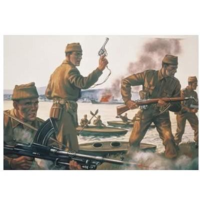 Figurines 2ème Guerre Mondiale : Commandos Britanniques 1:72 - Airfix-01732
