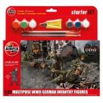 Figurines 2ème Guerre Mondiale : Starter Set : Infanterie allemande multi-poses