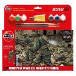 Figurines 2ème Guerre Mondiale : Starter Set : Infanterie US multi-poses