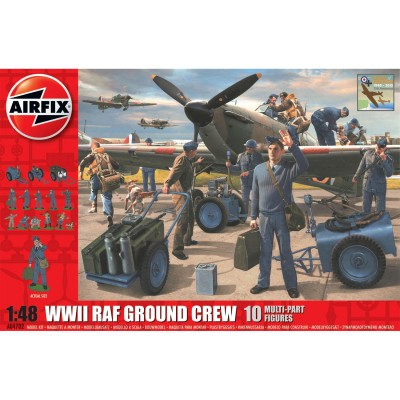 Figurines militaires : Equipe au sol de l'aviation RAF WWII - Airfix-04702