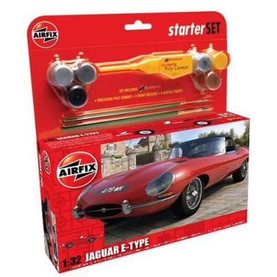 Maquette voiture: Starter Set: Jaguar E-Type - Airfix-55200