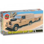 Maquette LWB Landrover (Soft Top) & Trailer