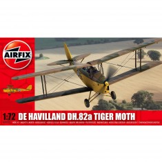 Maquette avion : De Havilland DH.82a Tiger Moth Jaune