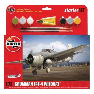Maquette avion : Grumman F4F-4 Wildcat Starter Set - Airfix-55214