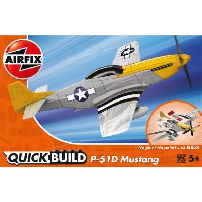 Maquette avion : Quick Build : Mustang P-51D - Airfix-J6016