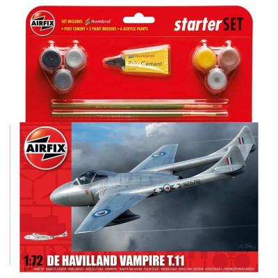 Maquette avion : Starter Set : De Havilland Vampire T.11 - Airfix-55204