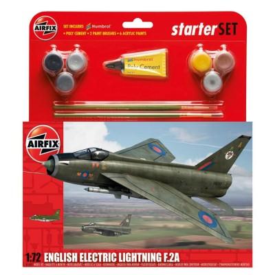 Maquette avion : Starter Set : English Electric Lightning F.2A - Airfix-55305