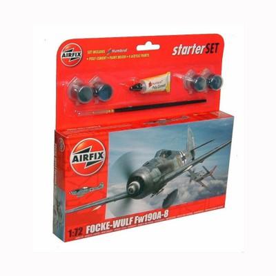 Maquette avion : Starter Set : Focke Wulf 190A-8 - Airfix-55110