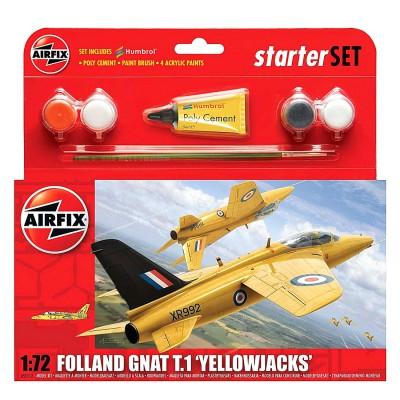 Maquette avion : Starter Set : Folland Gnat T.1 Yellowjacks - Airfix-55112