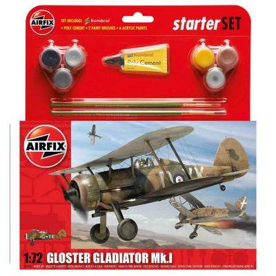 Maquette avion : Starter Set : Gloster Gladiator Mk.I - Airfix-55206