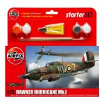 Maquette avion : Starter Set : Hawker Hurricane MkI