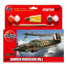 Maquette avion : Starter Set : Hawker Hurricane MkI