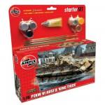 Maquette Char: Starter Set : Pzkw VI AUSF.B King Tiger