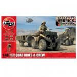 Maquette Quad avec figurines : Quad Armée Britannique