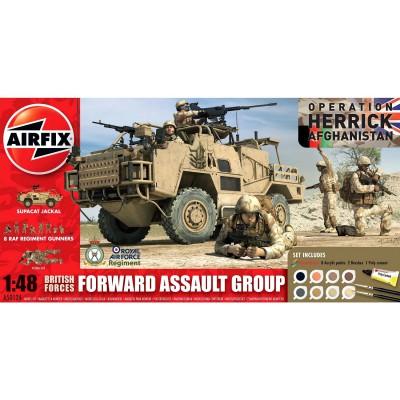 Maquette véhicule militaire et figurines : Gift Set : British Forces Forward Assault Group - Airfix-50124
