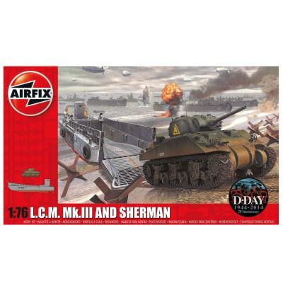 Maquette véhicules militaires : LCM & Sherman Tank - Airfix-03301