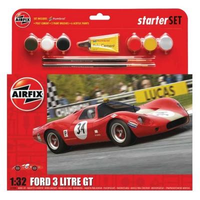 Maquette voiture : Ford 3 Litre GT Starter Set - Airfix-55308