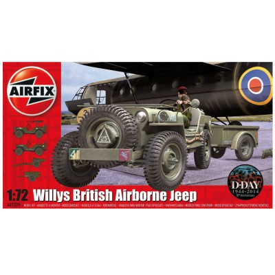 maquette voiture willys british airborne jeep airfix. Black Bedroom Furniture Sets. Home Design Ideas