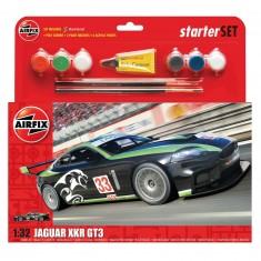 Maquette voiture de course : Jaguar XKRGT : Starter Set : 1:32