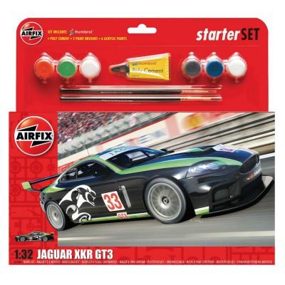 Maquette voiture de course : Jaguar XKRGT : Starter Set : 1:32 - Airfix-55306