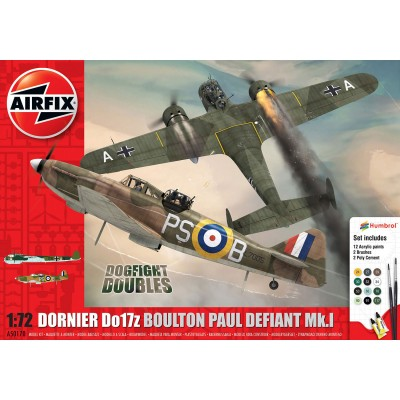 Maquettes avion : Set Dornier Do17z et Boulton Paul Defiant Mk.I - Airfix-50170