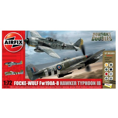 Maquettes avions : Dogfight Double Fock Wulf et Hawker Typhoon - Airfix-50136