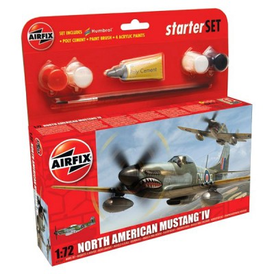 Maquette avion: Starter Set: North American Mustang IV - Airfix-55107