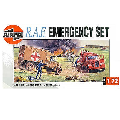 Maquettes véhicules militaires : RAF Emergency Set - Airfix-03304