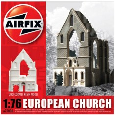 Maquette Ruines de guerre : European Church Ruin