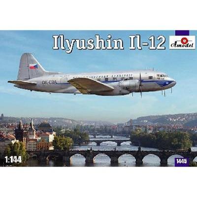 Maquette avion: ILYUSHIN IL-12 Lignes aériennes tchèques - Amodel-AM1445