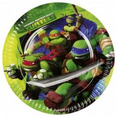 Assiettes en carton Tortues Ninja : 8 assiettes de fête